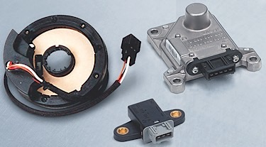 A steering angle sensor works with the yaw and accelerometer to determine what the vehicle is doing and what the driver wants the vehicle to do.