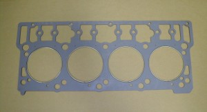 Stainless steel fire rings are used on this diesel head gasket to improve sealing and prevent gasket failure. (courtesy Hypermax Engineering).