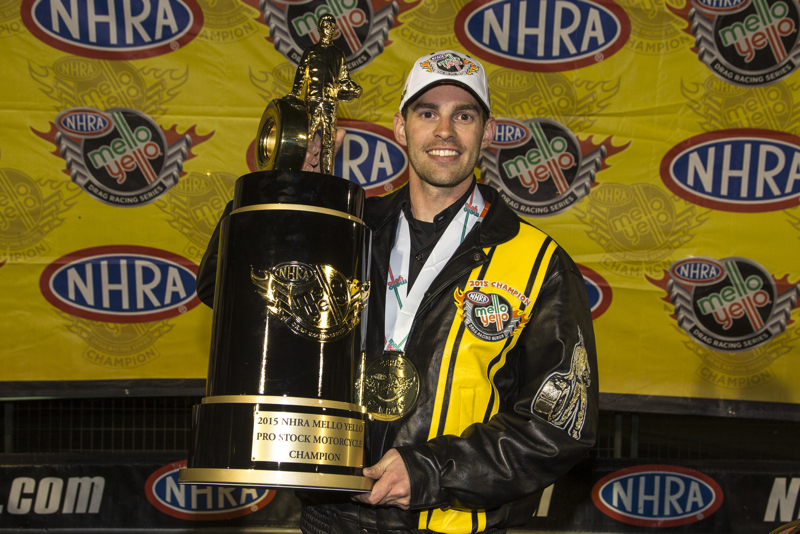Andrew Hines World NHRA PSM Champ 2015