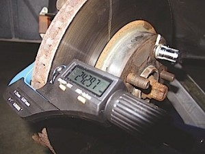 "Rotor thickness should be measured in at least six areas of the rotor's face. Generally speaking, the DTV should not vary more than .001"". Some manufacturers specify zero DTV."