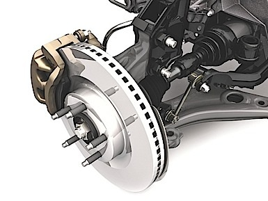 2007 Ford Edge CUV: Large, disc brakes with standard four-wheel anti-lock braking.