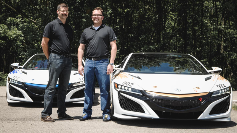The two Acura NSX supercars will compete in the Time Attack 1 and 2 classes and will be piloted by brothers James and Nick Robinson, respectively, both from the company's North American engineering team.