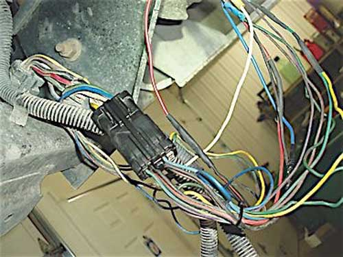 This multicolored conglomeration of wiring illustrates the problems that can be caused by human hands.