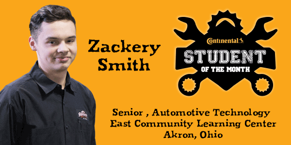 "Our own Zackery Smith has received the honor of Continental ""Student of the Month"" for February 2019"