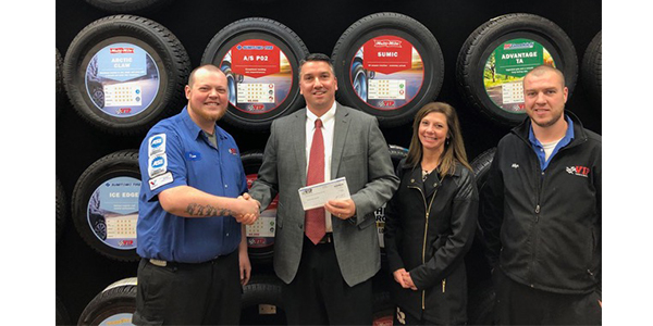 VIP Tires & Service Donation To Schools