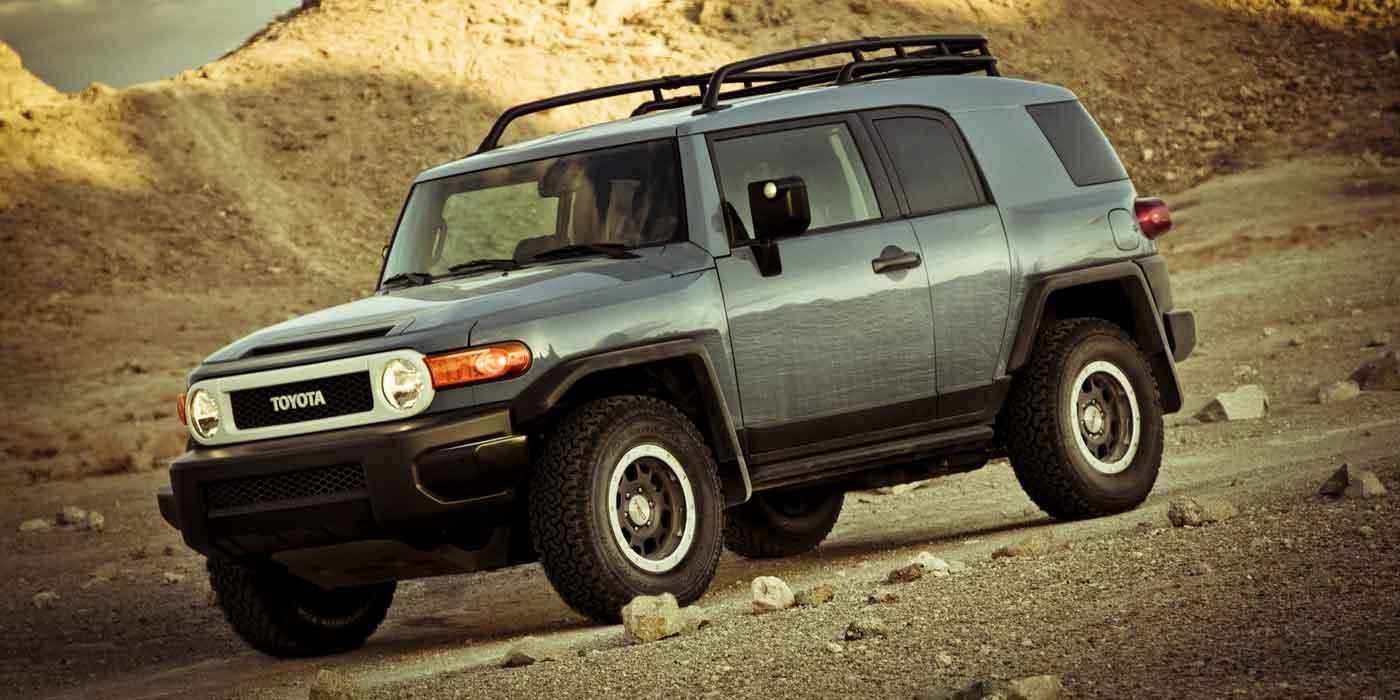 2014 Toyota FJ in the desert