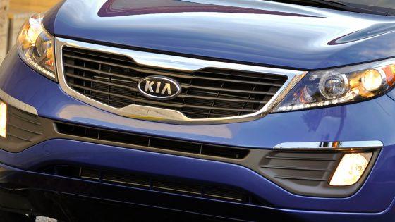 Kia Sportage on the road